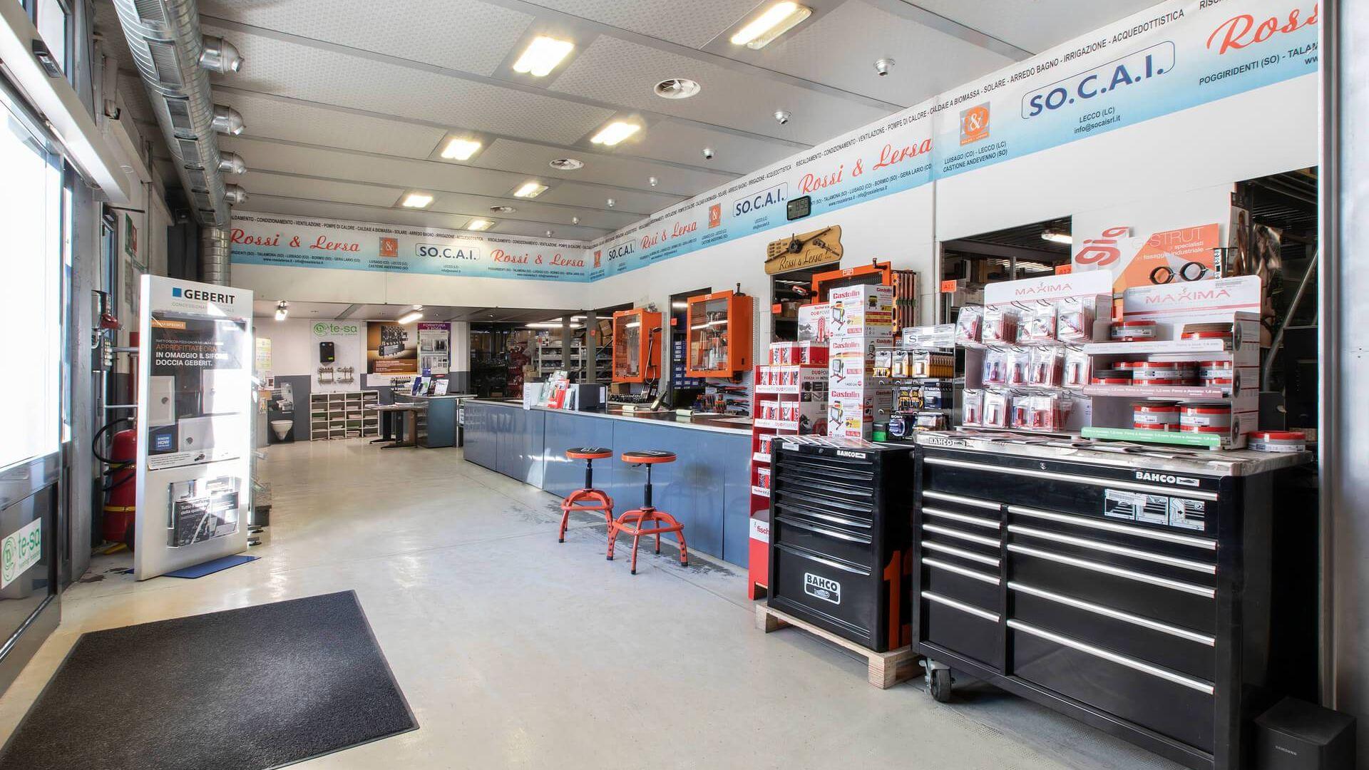 Showroom prodotti idrotermosanitari